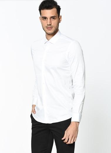 Wessi Slim Fit Uzun Kollu Klasik Gömlek Beyaz